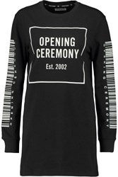 Opening Ceremony Printed Cotton Jersey Top Black