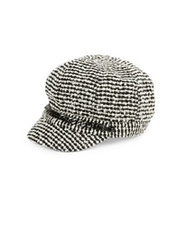 August Hats Tweed Newsboy Cap Black