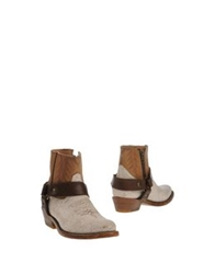 Ash Ankle Boots Ivory