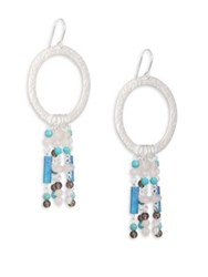 Stephanie Kantis Turquoise And Smoky Topaz Circle Earrings Silver