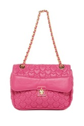 Betsey Johnson Always Be Mine Faux Leather Handbag Pink