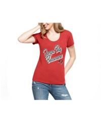 47 Brand '47 Women's Tampa Bay Buccaneers Club Script T Shirt Red