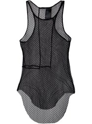 Haider Ackermann Sheer Polka Dot Tank Top Black