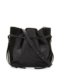 Lazar Leather Bucket Bag Black Boyy