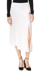 Veronica Beard Maverick Midi Skirt White