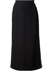 Adam By Adam Lippes Adam Lippes Mesh Side Panel Skirt Black