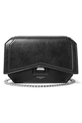 Givenchy Bow Cut Leather Shoulder Bag Black