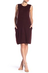 Lafayette 148 New York Crew Neck Shift Dress Cabernet