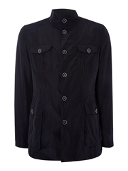 Richard James Casual Button Field Jacket Navy