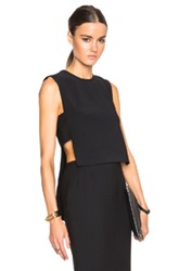 Adam By Adam Lippes Adam Lippes Banded Front Crop Shell In Black