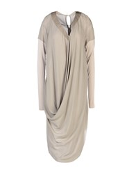 Alessandra Marchi Knee Length Dresses Dove Grey