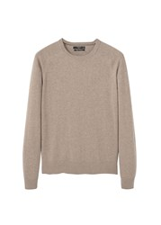 Mango Men's Cotton Cashmere Blend Sweater Beige
