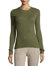 Michael Kors Collection Long Sleeve Cashmere Top Juniper Women's Size L