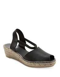 Andre Assous Dainty Slingback Wedge Sandals Black