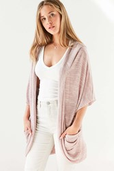 Silence And Noise Dallas Cocoon Cardigan Rust