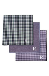 Cathy's Concepts Set Of 3 Monogram Pocket Squares Green
