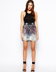 By Zoe By Zoe Printed Skirt In Marine Snake Print Marinesnake