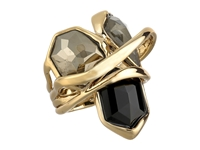 Alexis Bittar Multi Stone Orbit W Fancy Pyrite Pyrite Crystal Doublet And Black Crystal Kite Ring