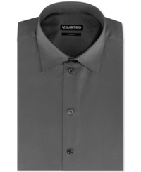 Unlisted By Kenneth Cole Solid Dress Shirt Greystone