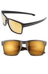 Oakley Men's Silver Xl 57Mm Sunglasses Black Yellow Black Yellow