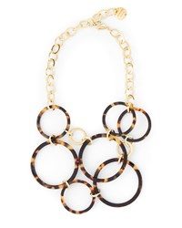 Jaeger Jennifer Tortoiseshell Circles Necklace Brown