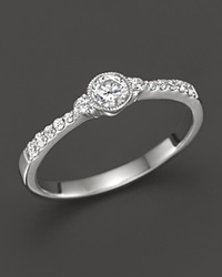 Bloomingdale's Diamond Band Ring In 14K White Gold .35 Ct. T.W.