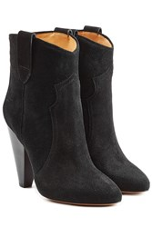 Etoile Isabel Marant Suede Ankle Boots Black