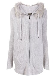 Max And Moi Felicie Hooded Cardigan Grey