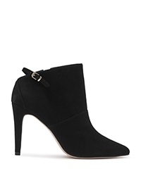 Reiss Arabesque Suede Pointed Toe Booties Black