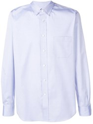 Junya Watanabe Man Button Up Shirt Blue