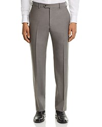 Emporio Armani Twill Regular Fit Tailored Dress Pants Beige Twill