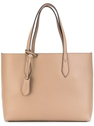 Burberry Classic Shopping Bag Women Calf Leather Polyurethane One Size Nude Neutrals