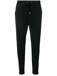 Michael Michael Kors Tapered Ankle Zip Track Trousers Black