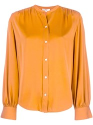 Vince Button Up Blouse Orange