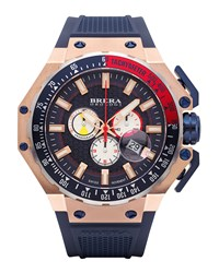 Gran Turismo Chronograph Watch Navy Rose Brera