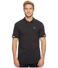 Pearl Izumi Short Sleeve Button Up Black Phantom Plaid