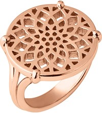 Links Of London Timeless 18Ct Rose Gold Vermeil Coin Ring
