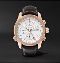 Kingsman Bremont Alt1 Wt Wh World Timer 43Mm Rose Gold And Leather Automatic Chronograph Watch Brown