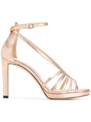 Jimmy Choo Federica 100 Sandals Metallic