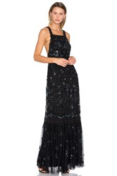 Needle And Thread Embellished Bib Gown Black