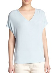 Vince Stretch Modal V Neck Tee Stream