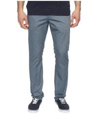 Rvca The Week End Pant Dark Denim Heather Men's Casual Pants Gray