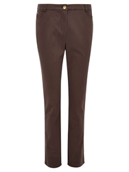 Viyella Straight Smart Long Jeans Truffle