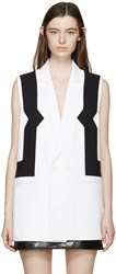 Kenzo White And Black Waistcoat