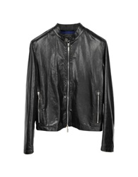 Forzieri Zante Andrea Black Leather Motorcycle Men's Jacket