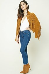 Forever 21 Frayed Ankle Jeans
