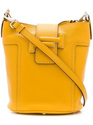 Tod's Double T Bucket Bag Yellow
