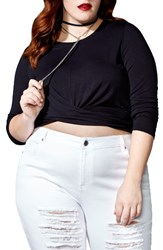 Mblm By Tess Holliday Plus Size Women's Crop Top