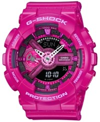 G Shock Women's Analog Digital Dark Pink Bracelet Watch 49X46mm Gmas110mp 4A3