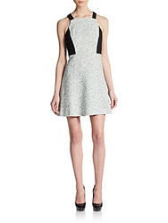4.Collective Ava Tweed Dress Ivory Multi